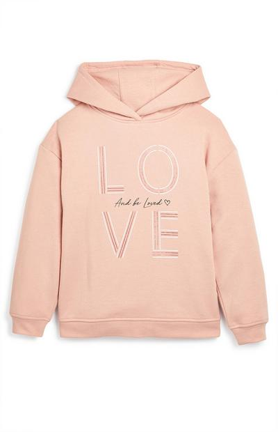 Older Girl Pink Love And Be Loved Hoodie