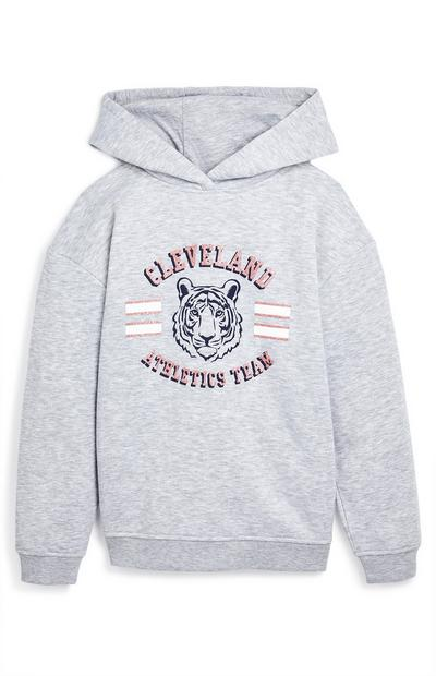 "Grauer ""Cleveland Athletics Team"" Kapuzenpullover (Teeny Girls)"