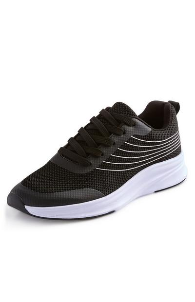 Black And White Stripe Functional Trainers