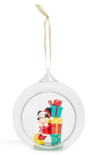 Mickey Mouse Glass Ornament