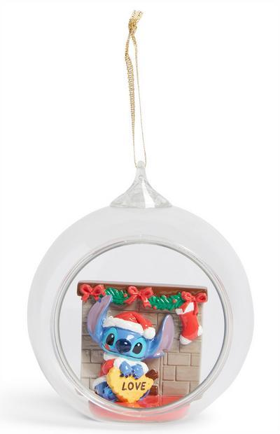 Stitch Glass Christmas Ornament
