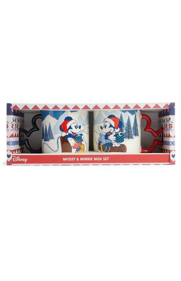Juego de dos tazas de Mickey y Minnie