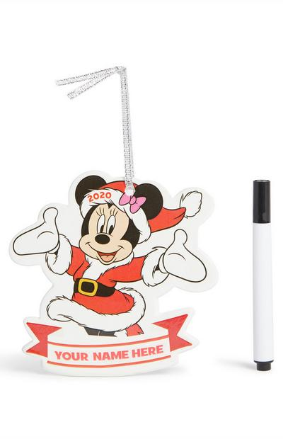 Minnie Mouse Personalisation Christmas Decoration