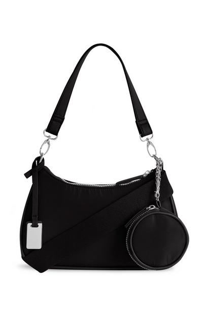 Nylon Black 3-in-1 Crossbody Bag