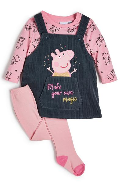 Roze overgooier en legging Peppa Pig voor baby's (meisje)