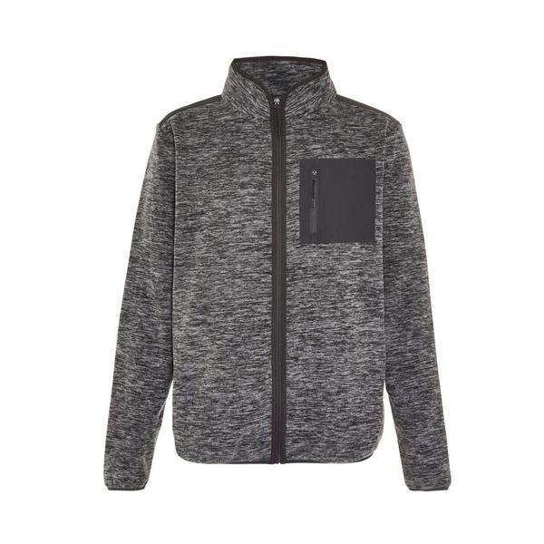 Grauer Great Outdoors Fleece mit Turtleneck und Reißverschluss