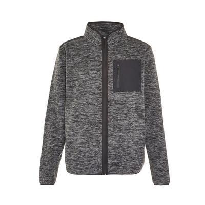 Pile grigio con collo alto e zip Great Outdoors
