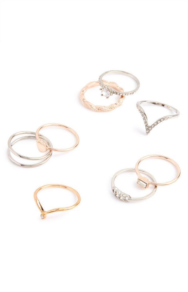Verschiedene Ringe im Multipack