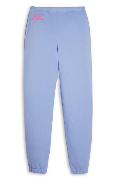 Calças treino menina azul