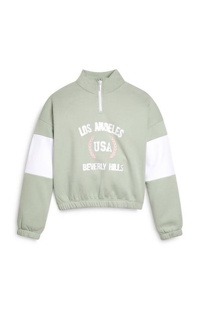 Older Girl Los Angeles Half Zip Top