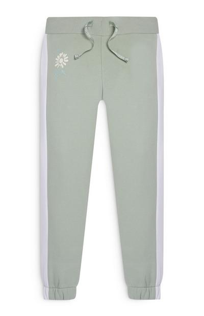 Pantalon de jogging à empiècements latéraux fille