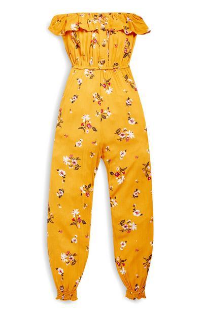 Older Girl Mustard Jumpsuit