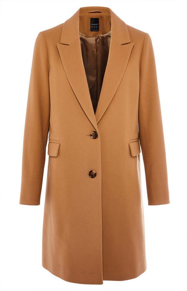 Tan Single Breasted Coat