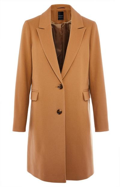 Tan Single Breasted Coat