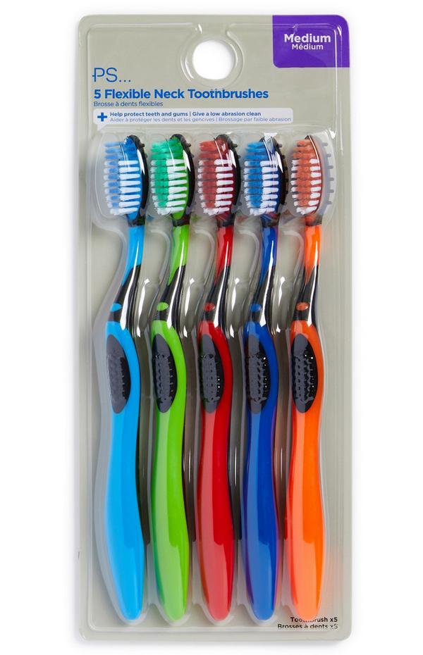 Tandenborstels voor heren, set van 5