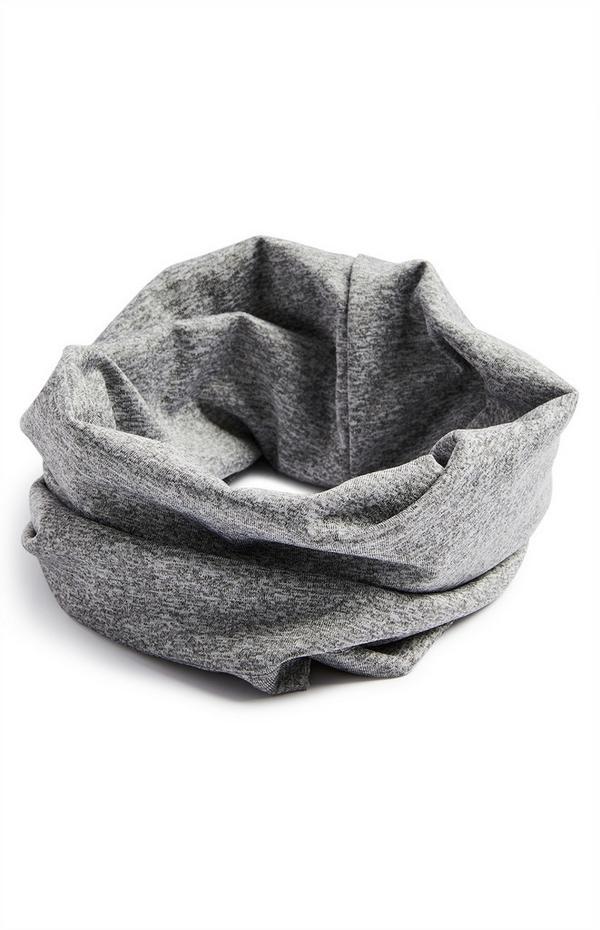 Grauer Loop-Schal aus Jersey