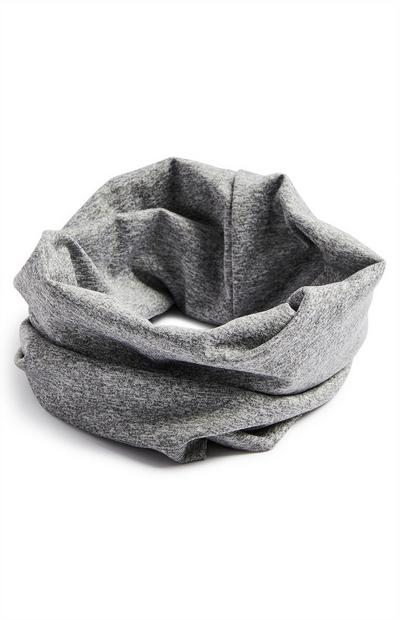 Gray Jersey Infinity Scarf