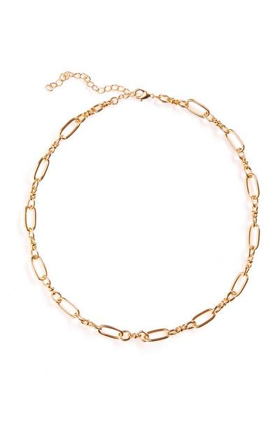 Goldtone Delicate Link Chain Necklace