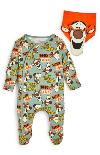 Baby Disney Green Tigger Sleepsuit