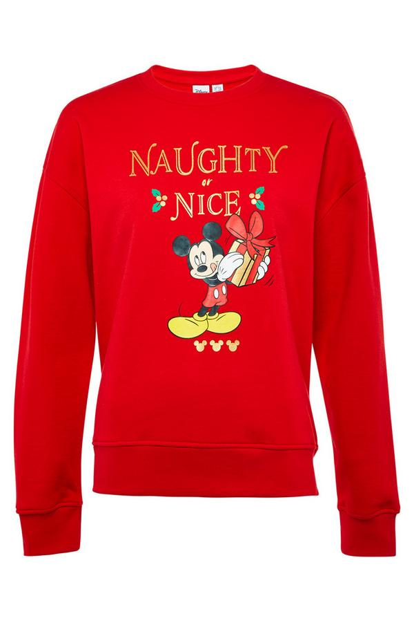 Red Mickey Mouse Christmas Sweater