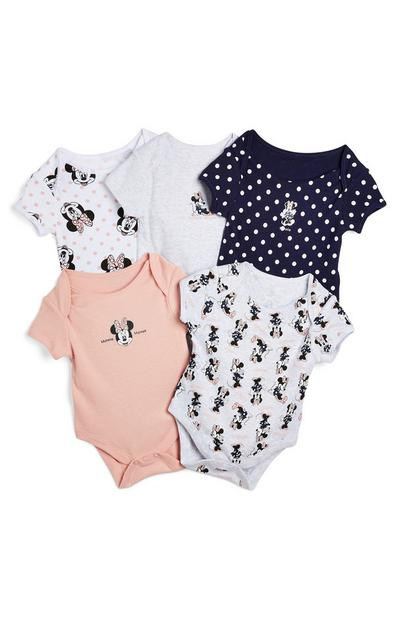 Lot de 5 bodys Disney Minnie Mouse nouveau-né