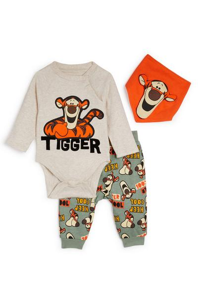 Ensemble legging, bavoir et body Tigrou Winnie l'ourson nouveau-né