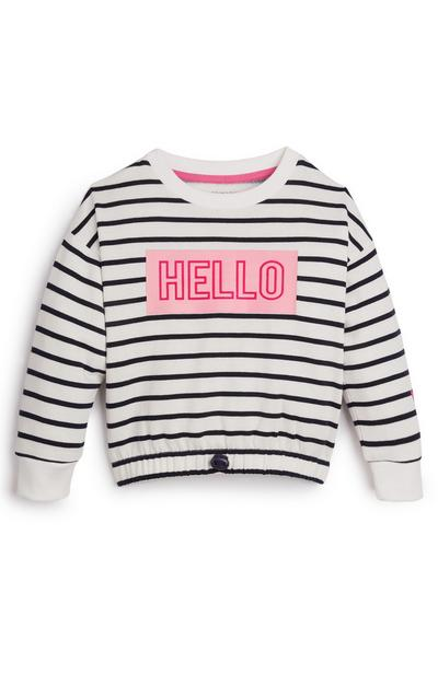 Younger Girl Navy Stripe Crew Sweater