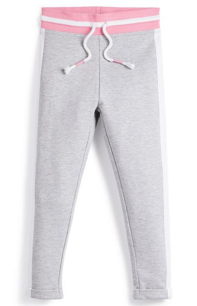 Younger Girl Grey Side Stripe Joggers
