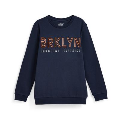 "Marineblauer ""Brooklyn"" Rundhalspullover (Teeny Boys)"