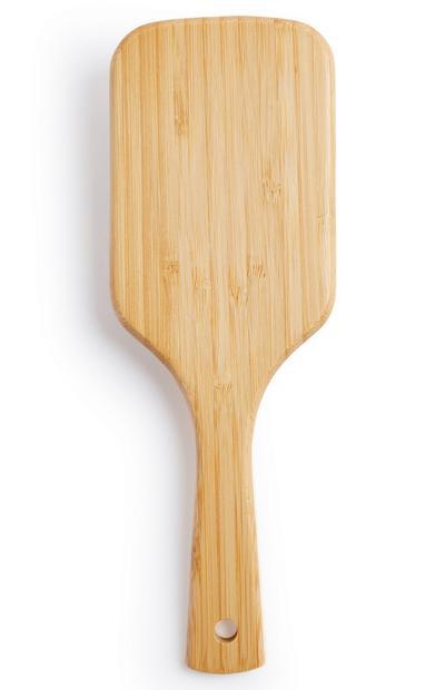 Spazzola per capelli piatta in bambù