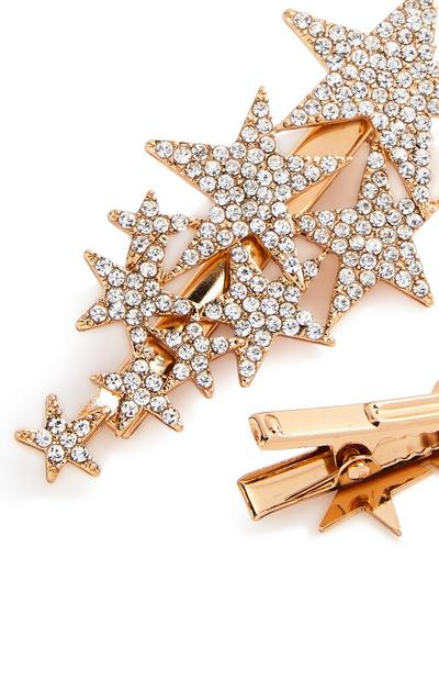 2-Pack Goldtone Celestial Hair Clips
