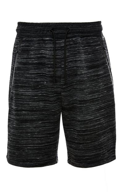 Charcoal Marl Knitted Texture Sports Shorts