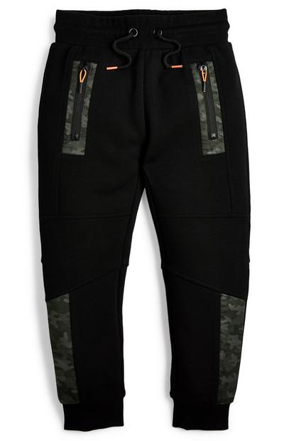 Younger Boy Woven Panel Joggers