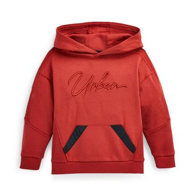 Younger Boy Reverse Panel Hoodie