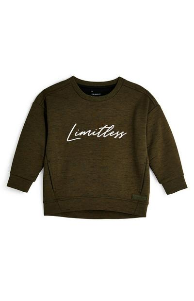Younger Boys Khaki Limitless Smart Crew Neck Sweater