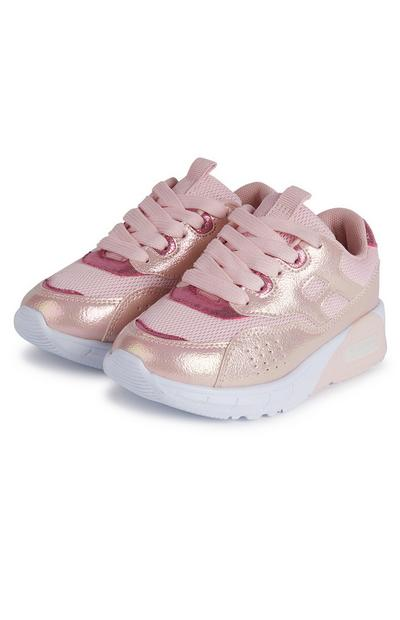 Baskets rose bonbon pour fille