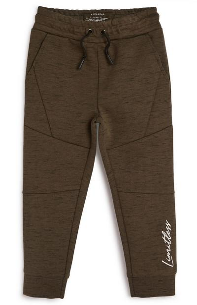 Younger Boy Smart Khaki Joggers