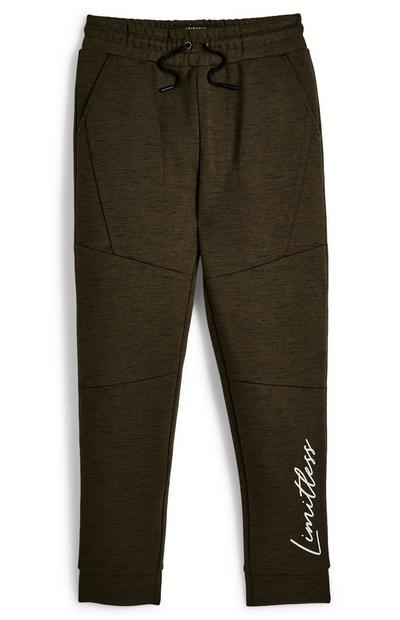 Older Boy Khaki Smart Joggers