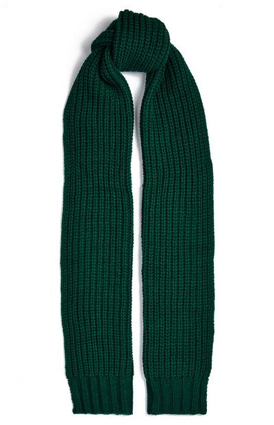 Bottle Green Ribbed Chunky Scarf