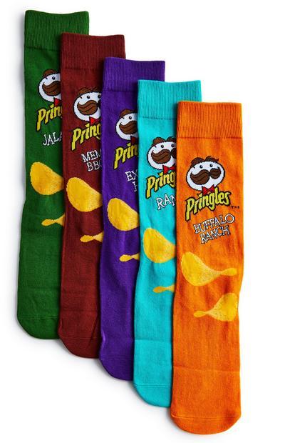 Pack 5 pares meias Pringles sabores multicolorido