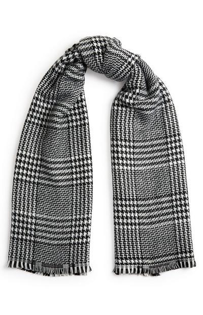 Sjaal met zwart-witte print