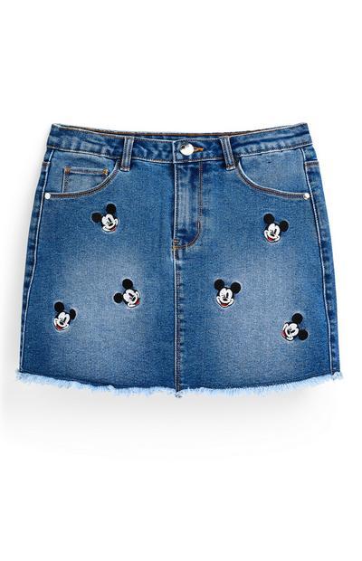 "Blauer ""Disney Micky Maus"" Jeansrock (Teeny Girls)"