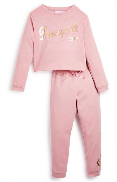 Roze set Pineapple voor meiden