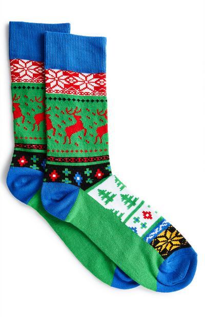 Meias Natal rena multicolor