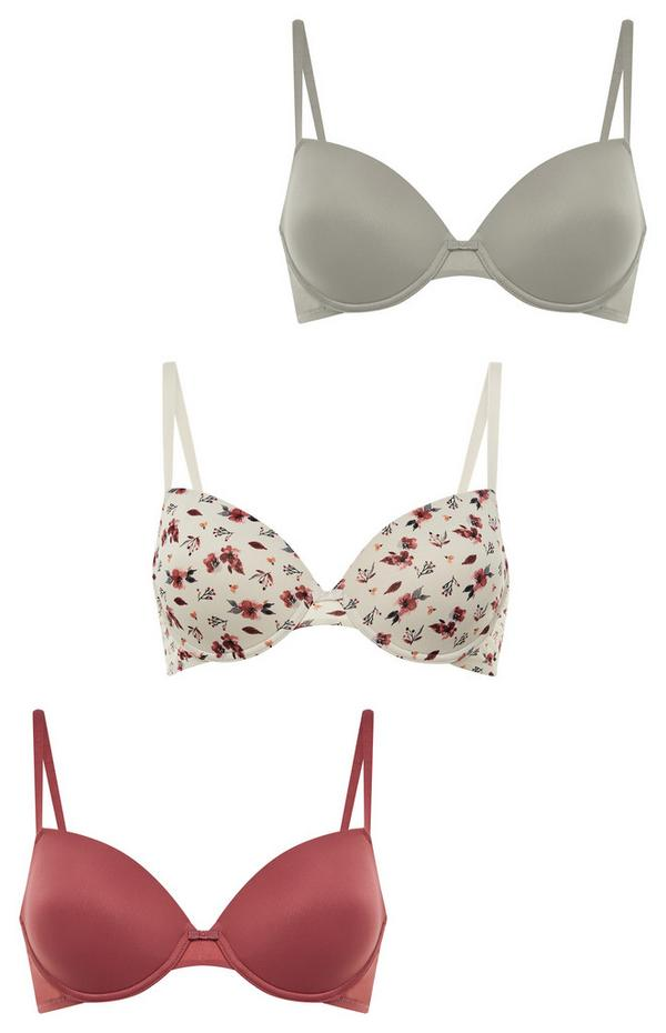 Mixed Print T-Shirt Bras In Sizes A-D
