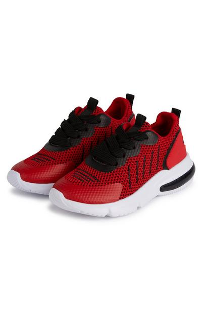 Younger Boy Red Phylon Sole Sneakers