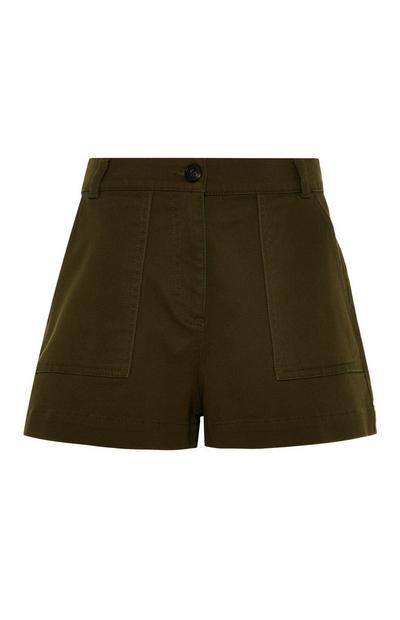 Shorts funzionali neri a vita alta