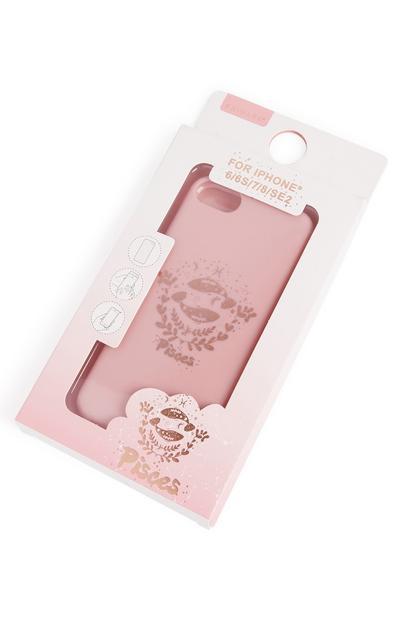 """Carcasa para el móvil de color rosa con estampado """"Pisces"""""""