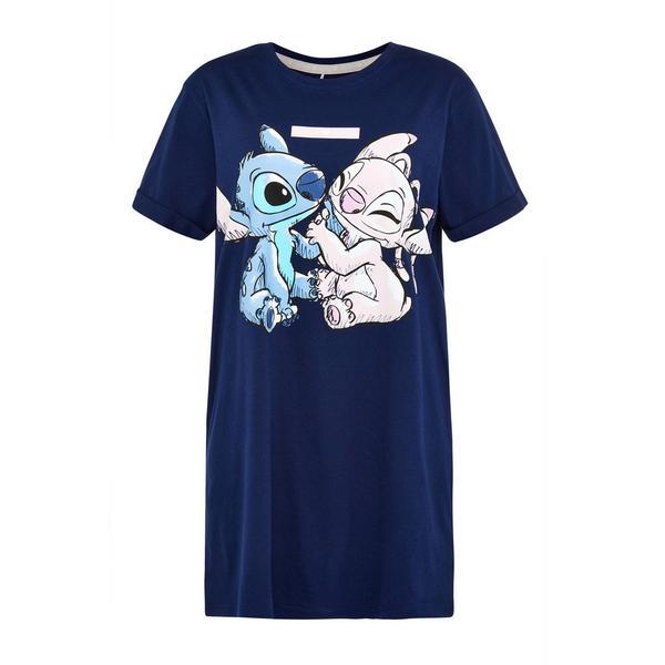 Chemise de nuit bleu marine Disney Lilo et Stitch
