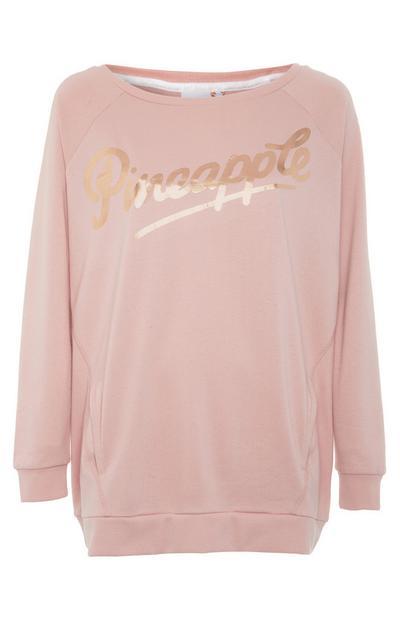 Pink Pineapple Loose Sweater